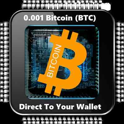 0.001 Bitcoin (BTC) - Mined Bitcoin Direct To Your Wallet - By CryptoCoinShop