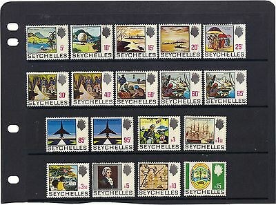 Seychelles 1969 - Complete Set Sg 262-279 Mm Cat. £35+