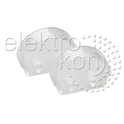 Set: LED Profil Endkappen halbrund, transparent