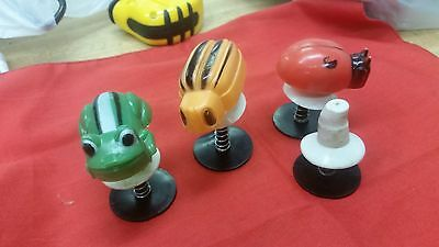 Lot 4 Spring w/Suction Cup pop-up toys ladybug frog and two otheseparate #134