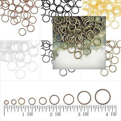 Approx120-1860pcs 30g Open Jump Rings Connectors Jewellery Makings Lots 3-14mm