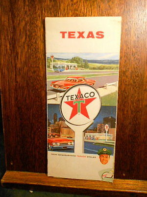 Road Map Gas Station Texaco Gas Texas State road map 1960