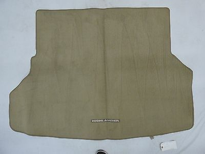 2008 - 2013 Toyota Highlander Genuine Oem Rear Cargo Mat Carpet Trunk Liner Rug