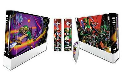 High Quality vinyl sticker decal skin for Wii console -Legend of Zelda Link