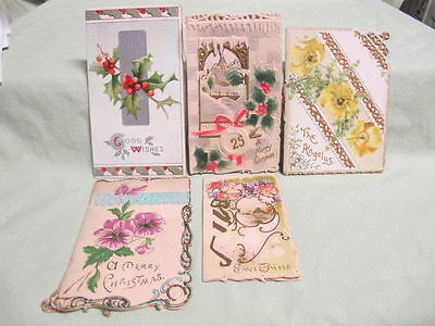 Vintage  Lot of 5 Gretting Cards