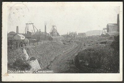 Dolcoath Mine, Camborne, Cornwall, 1904 - Postcard