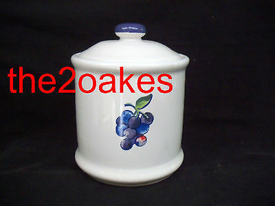 """Corelle Fruit Basket JAY 5"""" Coffee Canister Too Basket Mix Grapes"""