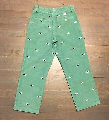 Vineyard Vines Green Corduroy Blue Whale Embroidered Club Pants 16