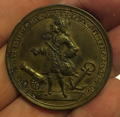 Admiral Vernon 1739 Portobello Medal Beautiful Original Colours AUNC/UNC RARE!!!