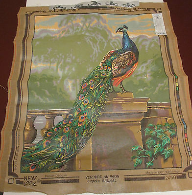 New / Unused Large Tapestry Canvas ~ Peacock ~ Margot