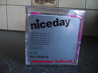 """Box 10 Floppy Discs Diskettes3 1/2"""" Ds/hd For Ibm 1.44Mb Plastic Case New Sealed"""