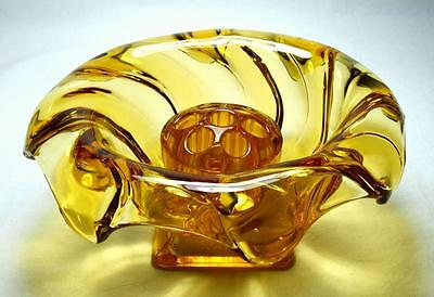 Art Deco Bagley Glass Equinox Vase, with Frog, 1930s, Pattern 3061