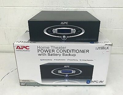 APC J15 High-End 12-Outlet Home Theater Power Conditioner w/Battery Backup GREAT