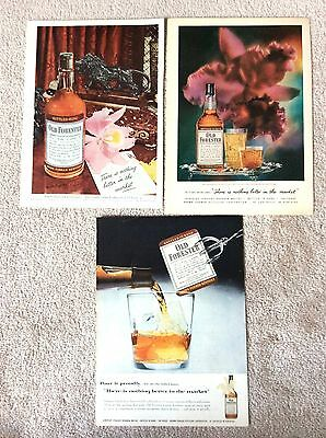 Old Forester Whiskey Magazine Ad - Lot of 3 Ads