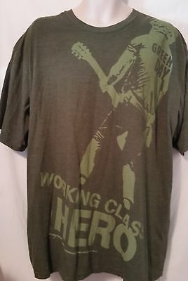 Green Day Working Class Hero By Hard Rock, Signature Series, T-Shirt Vintage 2Xl