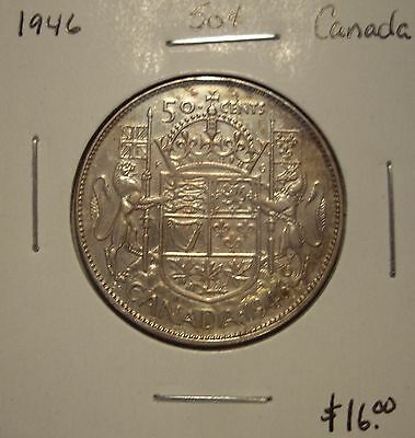 Canada George VI 1946 Silver Fifty Cents