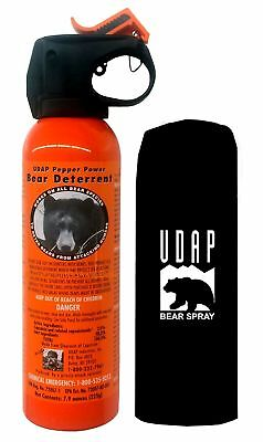 UDAP Pepper Power Bear Spray Repellent w/ Holster 12VHP Mace Hiking Sealed - NEW