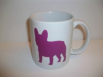 French Bulldog Outline Silhouette Coffee Mug Cup