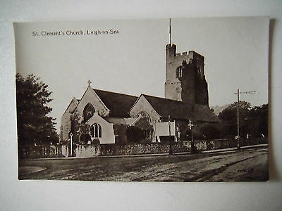 St Clements Church Leigh on Sea Essex Old Postcard