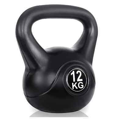 Gym Crossfit Fitness Exercise Workout Training Kettlebell Weight Kit 12kg New