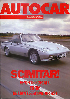 Reliant Scimitar SS1 Period Road Test Reprinted from Autocar 1985