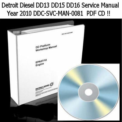 Detroit Diesel Dd13 Dd15 Dd16 Workshop Engine Service Manual Ddc-Svc-Man-0081 Cd