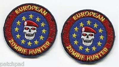 """RESIDENT EVIL CITIZEN ARMED DEFENCE ID νeΙ©®⚙ 2"""" 2-TAB SET: Euro Zombie Hunter"""