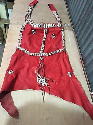 Traditional Fulani Maden shirt Dogon Mali covered cowry shells Apron Cerimonial