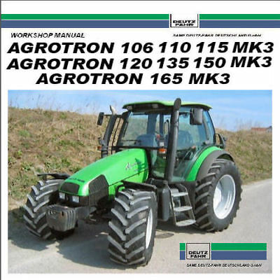 Deutz Fahr Agrotron 150 Service Manual 106 110 115 120 135 165 MK3 PDF CD Nice !