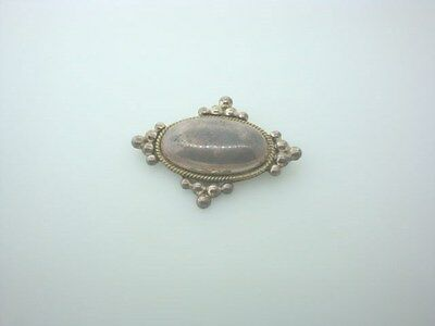 Sterling Silver Oval Puffy Pin/Pendant Mexico