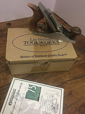 Lie Nielsen White Bronze #1 Plane  Woodcraft 75th Anniversary New with Box #302