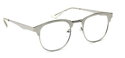 Vintage Clear Lens Eyeglasses Round Metal Retro Men Women Fashion Style
