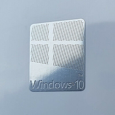 10X Windows 10 Logo Metal Sticker for Computer/Laptop PC 17x22mm