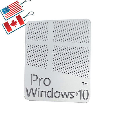 Windows 10 Pro Logo Metal Sticker for Computer/Laptop PC 17x22mm