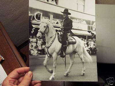 In-Person Photo: Hopalong Cassidy in '53 Spokane Parade -- 8 inch by 10 inch