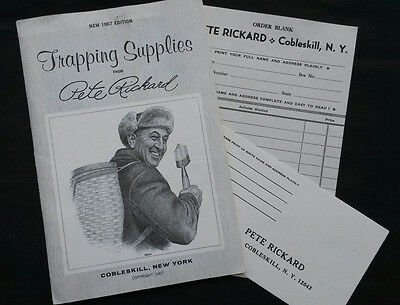 Vintage 1967 Pete Rickard Trapping Supplies Animal Lure Catalog  W/ Inserts