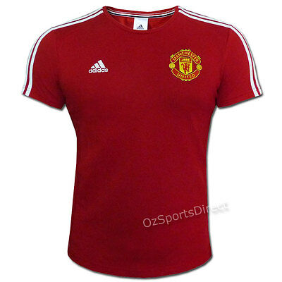 Manchester United FC 3 Stripes T Shirt - Size XL