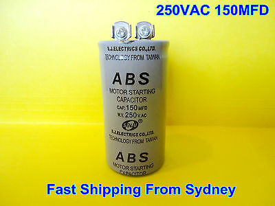 ABS 250VAC 150MFD (150uF) Air Conditioner Appliance Motor Starting Capacitor NEW