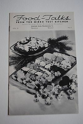 Vintage Food Talks From The Mirro Test Kitchen Aluminum Advertisment Recipes