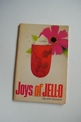 Vintage Joys of Jell-O Gelatin Dessert Ad Recipe Cook Book Gneneral Foods 9th Ed