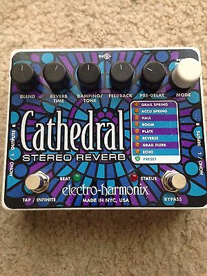 Electro-Harmonix Cathedral Stereo Reverb  Effect Pedal Reverb