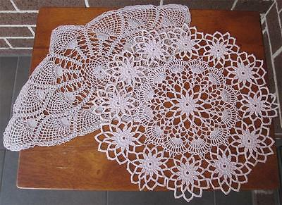 Two Vintage Hand Crochet DOILIES 'NEVER USED'