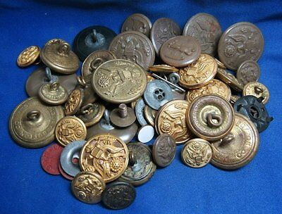 WWI and WWII Army and WAC Womens Army Corps Buttons Lot Of 50