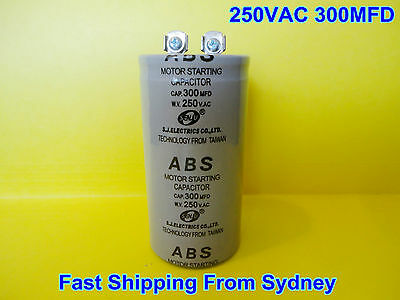 ABS 250VAC 300MFD (300uF) Air Conditioner Appliance Motor Starting Capacitor NEW