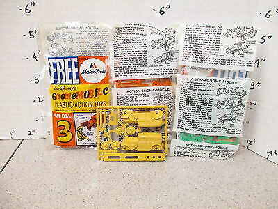Disney GNOME-MOBILE 1967 model kit premium cereal box MIP CAR Morton BROWN