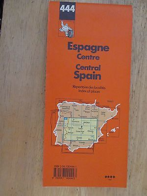 Vintage Michelin Road Map 444 Central Spain Madrid 1997 Espana Espagne