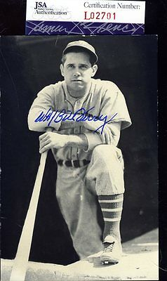 Bill Terry Jsa Authenticated Signed Photo Postcard Autograph