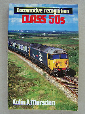 """LOCOMOTIVE RECOGNITION CLASS 50s."" RAILWAY BOOK."