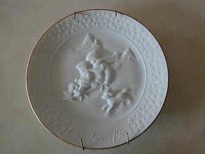"Avon  ""A Childs Christmas"" White Porcelain Plate"