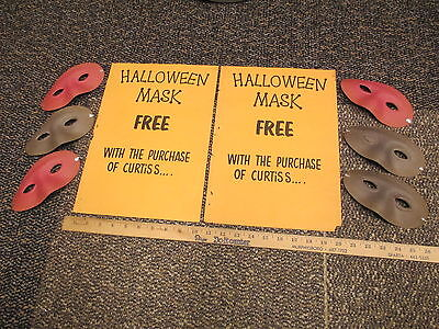Curtiss candy bar 1950s halloween (6) mask premium offer,2 sign poster Baby Ruth
